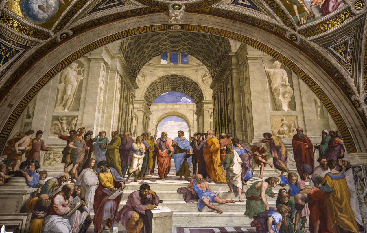 Atina Okulu - Raphael - Vatikan Müzesi