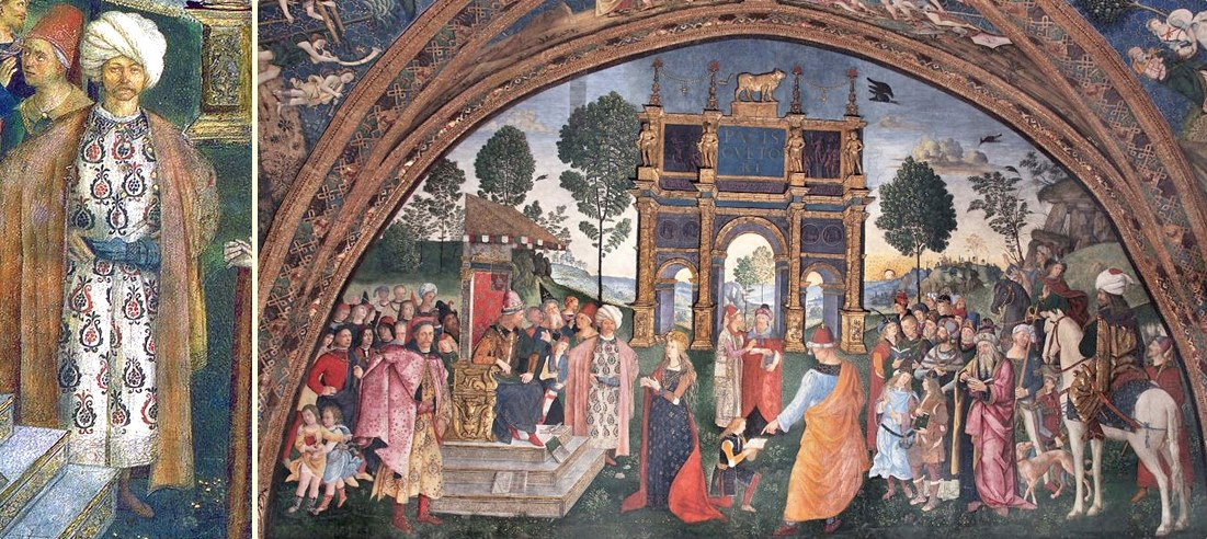 Azizler Odası'ndaki Cem Sultan Detayı - Vatikan Müzesi