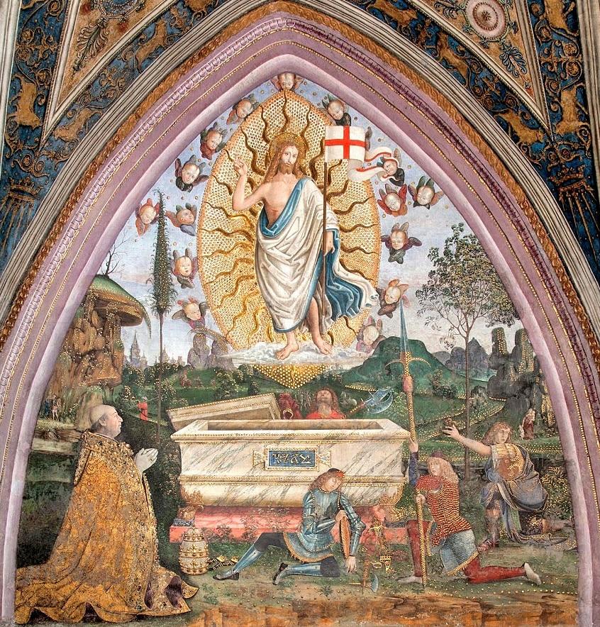 Borgia Daireleri - Diriliş Freski - Vatikan Müzesi
