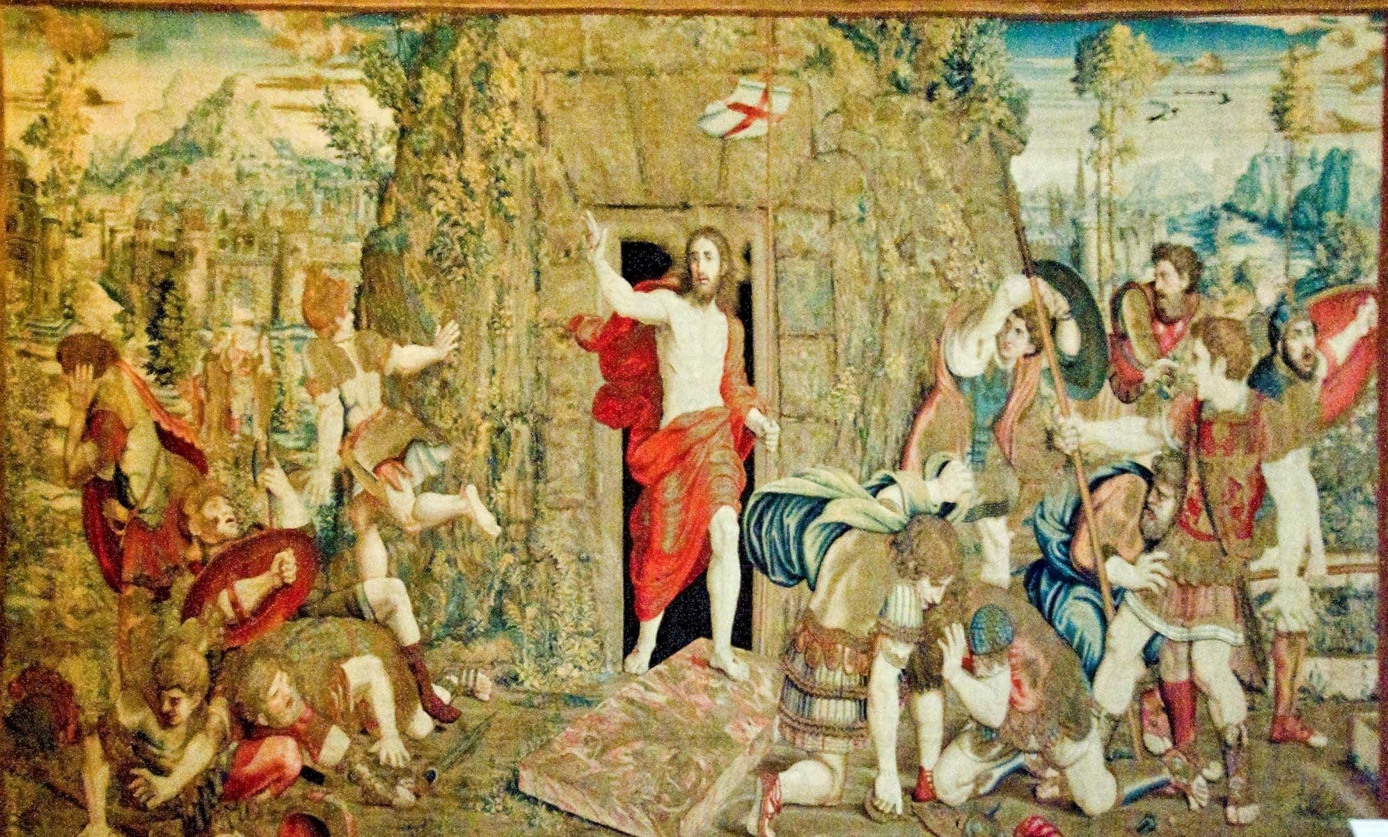 İsa'nın çarmıha gerilmesinden sonra dirilişini konu alan dev halı - Halılar Galerisi
