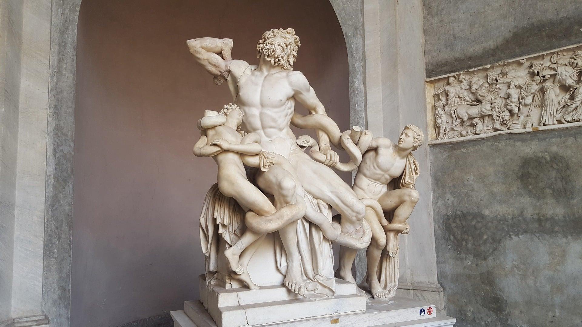 Lacoon Heykel Grubu - Sekizgen Avlu - Vatikan Müzeleri