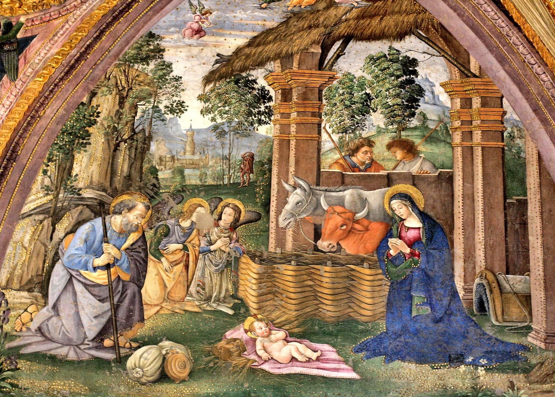 Pinturicchio - İsa'nın doğumu - Borgia Daireleri