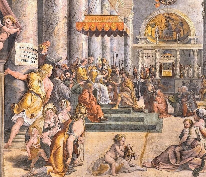 Roma'nın Bağışlanması eseri- Konstantin Salonu