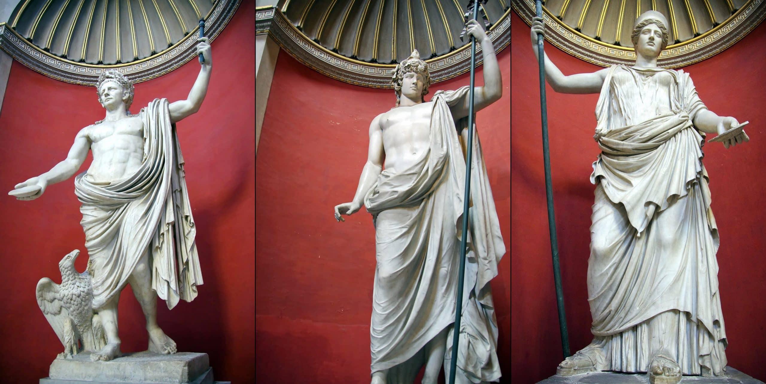 Sala Rotunda'da yer alan heykeller - Pio Clementino Müzesi - Vatikan Müzeleri
