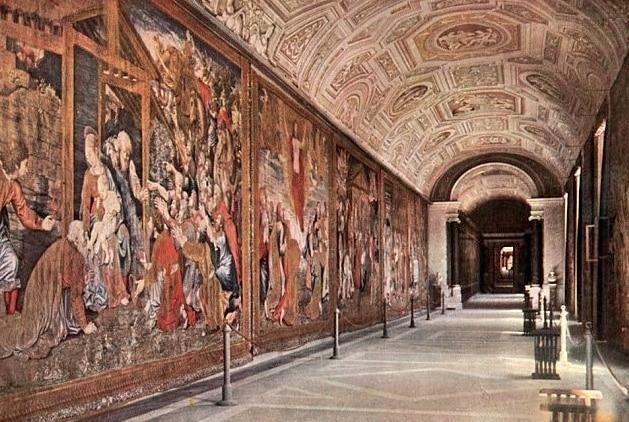 Vatikan Halılar Galerisi'nin Genel Görünümü