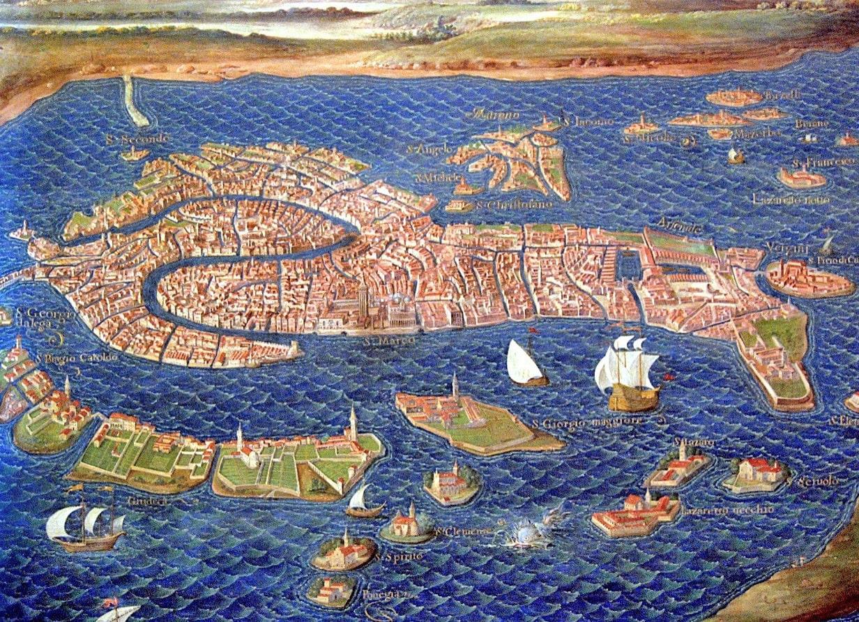 Vatikan Müzesi Haritalar Galerisi - Venedik şehir haritası