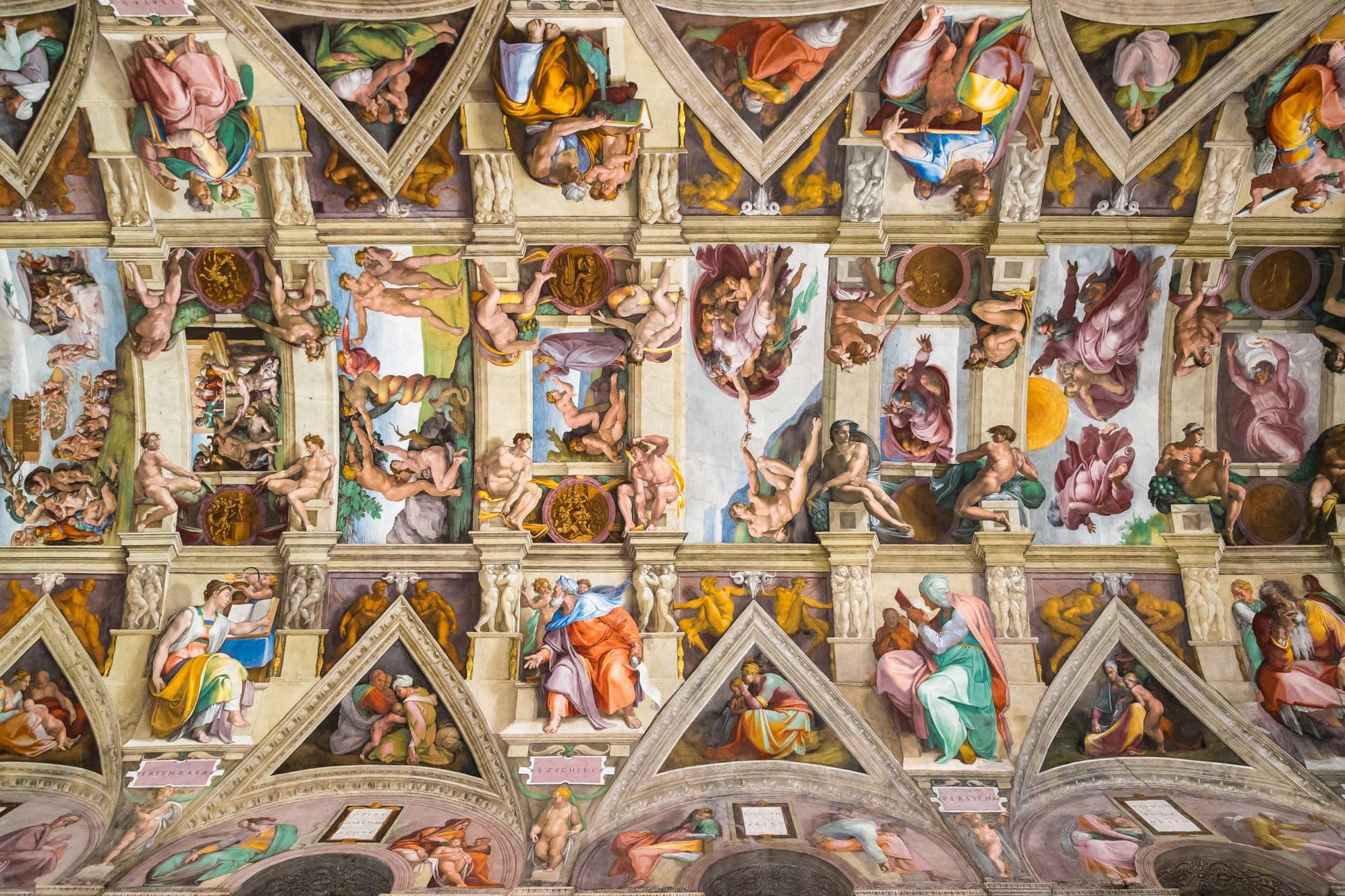Vatikan Turu - Sistina Şapeli'nin Tavanı