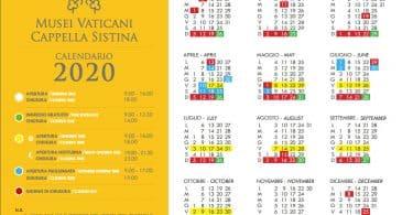 Vatikan Müzesi Ziyaret Takvimi - 2020 yılı planı
